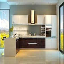 Lowest Price Kitchen Cabinets - popular double color island shape solid wood board low price