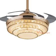 42 inch ceiling fan blades 42 inch modern invisible fan lights acrylic leaf led ceiling fans