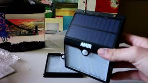 Solar Motion Lights Outdoor - amir outdoor led solar motion light review youtube