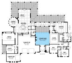 plan 16359md central courtyard courtyard house plans courtyard