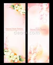 design x banner wedding 2 x banners designed pink red romantic illustrator template eps