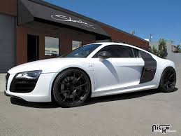 audi r8 matte black gallery niche wheels