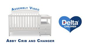 delta convertible crib instructions delta children u0027s abby crib u0027n u0027 changer assembly video youtube