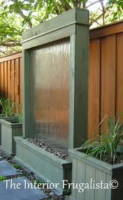 How To Build An Interior Wall Diy Outdoor Water Wall The Interior Frugalista Diy Outdoor