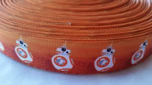 wide ribbon 1 1 5 wide and 3 wide bb8 grosgrain ribbon prettyribbonsforyou