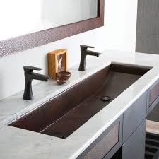 trough 48 double basin rectangular bathroom sink native trails