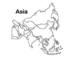 asia continent coloring download u0026 print