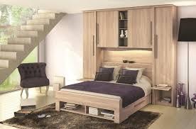 chambre a coucher avec pont de lit pluriel meubles célio