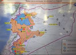 Map Of Russia And Syria by De Escalation
