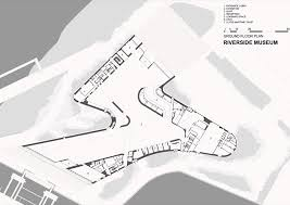 layout denah cafe riverside museum by zaha hadid architects dezeen