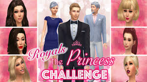the princess challenge l sims 4 l meet the royal family them
