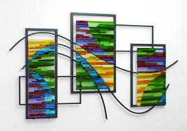 custom made fused glass and metal wall art by bonnie m hinz