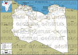Map Of Libya Geoatlas Countries Libya Map City Illustrator Fully