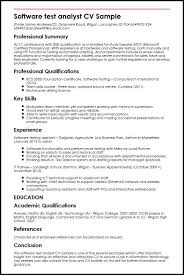 Hr Analyst Resume Sample by Software Test Analyst Cv Sample Myperfectcv