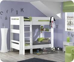 chambre fille avec lit superposé pack lit superposé enfant wax blanc 90x190 cm avec 2 matelas