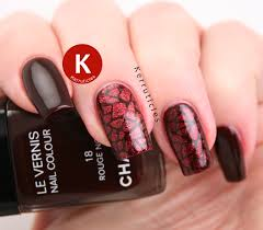 red geometric 40 great nail art ideas kerruticles