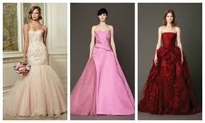 Red And White Wedding Dresses Nonwhite Wedding Dresses Pink Red Gold Blue Green Gray