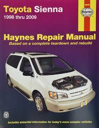 toyota shop amazon com haynes repair manual for toyota sienna 1998 thru 2009