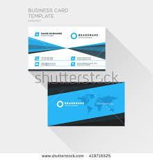 modern simple light business card template imagem vetorial de