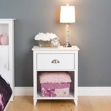 prepac yaletown 1 drawer white nightstand wdnh 1201 1 the home depot