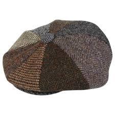 Patchwork Cap - harris tweed patchwork 8 button gatsby bakerboy newsboy