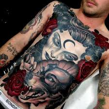 34 great wolf chest tattoos designs ideas about wolf golfian com