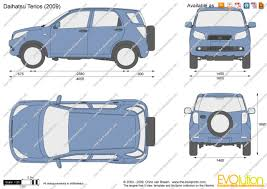 daihatsu terios 2000 the blueprints com vector drawing daihatsu terios