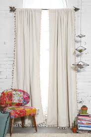 Blackout Curtains For Bedroom Blackout Pompom Curtain Ivory Bedrooms And Room