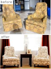 change upholstery on chair 28 before after reupholstered chairs