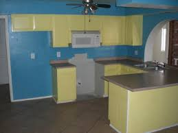yellow and blue kitchen ideas amazing kitchen blue paint wall yellow cabinets phoenix home house