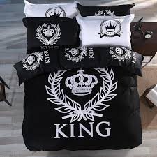 Duvet 100 Cotton Wholesale Fashion King Crown 100 Cotton Duvet Cover Set With Bed