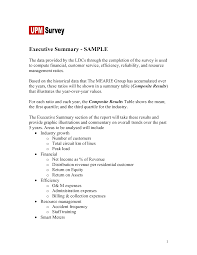 Resume Synopsis Sample by Sample Executive Summary Example Executive Summary Examples Apa