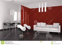 modern living and dining room with kitchen royalty free stock