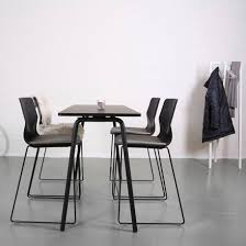 high table with four chairs contemporary high bar table laminate rectangular commercial