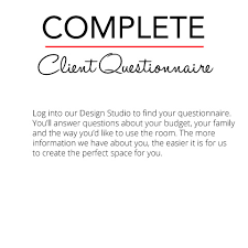 Interior Design Questionnaire by How Does Online Interior Design Work Crush Interiors