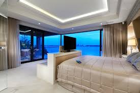 Contemporary Bedroom Bench - bedroom projector tv bedroom contemporary with built in bedroom