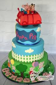 peppa pig cake three tier peppa pig cake ac33 amarantos birthday cakes melbourne