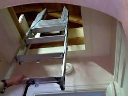 compact attic installation with existing push up attic door youtube