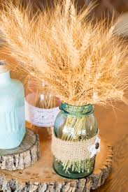 fall wedding centerpieces on a budget marvelous idea wheat centerpieces dried in mason jar wedding tags