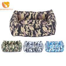 canapé lavable hiver chaud chien lit canapé lavable chiens camouflage chenil pet