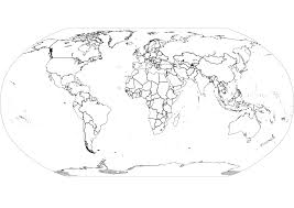 Blank World Map With Countries by Science Story Resources And Links