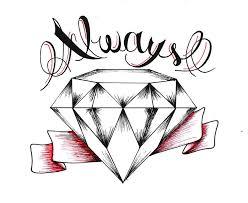 diamond drawing tattoo cool eyecatching tatoos clip art library