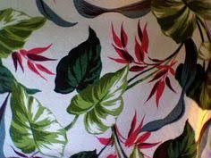 Hawaiian Curtain Fabric Decorating Vintage Curtains Vintage Colorful Tropical Curtain