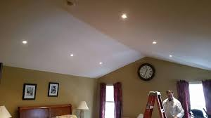 what is the best lighting for a sloped ceiling sloped ceiling recessed lighting hire a licensed electrician
