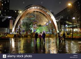 the winter garden on surrey street in sheffield city centre south