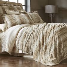 Faux Fur King Size Comforter Snow Leopard Fuzzy Blanket U0026 Shams Pier 1 Imports Products I