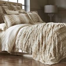 Faux Fur Blanket Queen Snow Leopard Fuzzy Blanket U0026 Shams Pier 1 Imports Products I