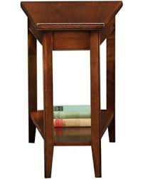 leick recliner wedge end table on sale now 17 off leick laurent recliner wedge end table 10502