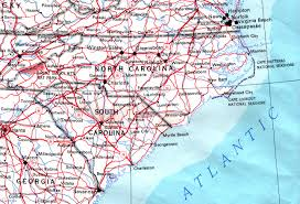 map of virginia and carolina with cities carolina maps perry castañeda map collection ut library
