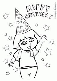 birthday coloring pages kids birthday party coloring pages